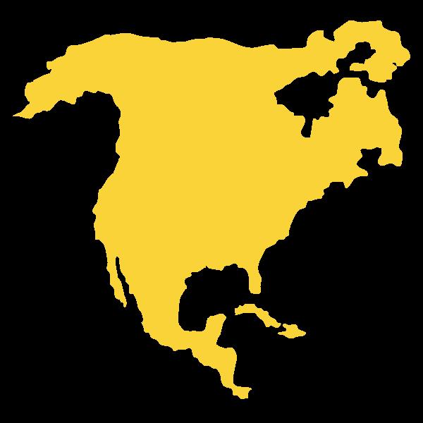 Mappa stilizzata di Nord America