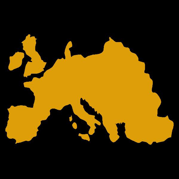 Mappa stilizzata di Europa