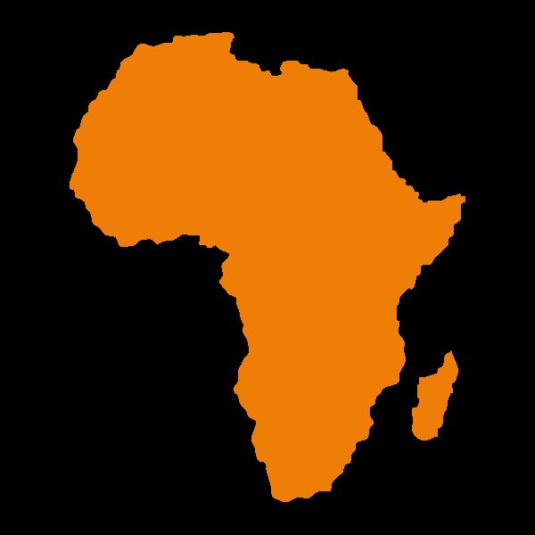 Mappa stilizzata di Africa