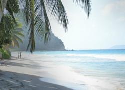 Costa e alture sul mare delle isole Vergini