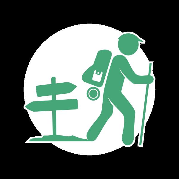 Icona di viandante