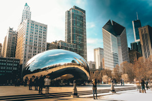 La famosa Nuvola, scultura nel centro di Chicago