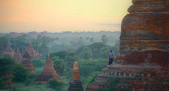 le cupole dei templi birmani