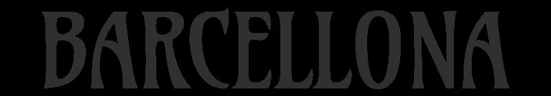testo grafico stile catalano: BARCELLONA