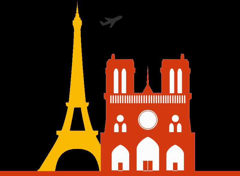 Grafica di Parigi con Notre Dame